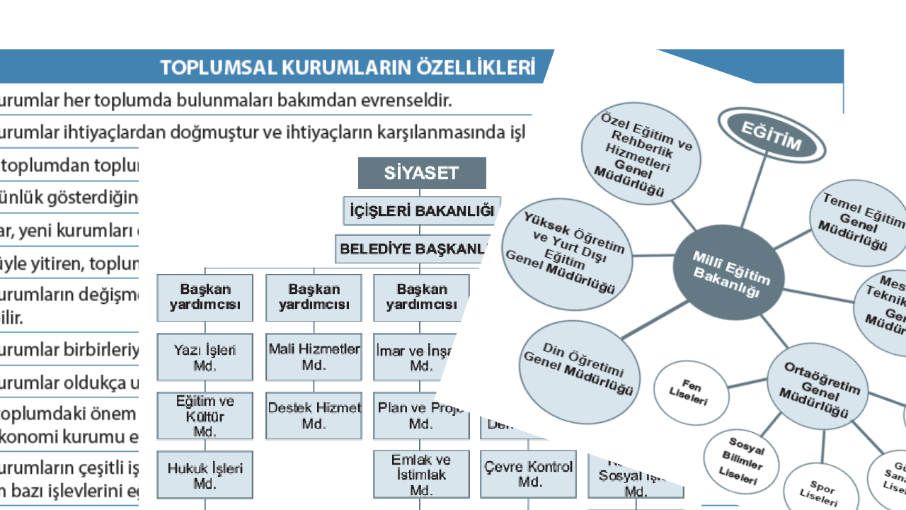 Toplumsal kurumların özellikleri ve özellikleri